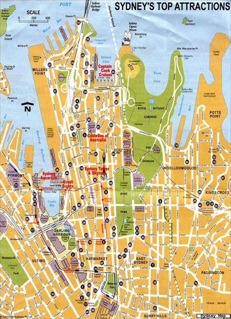 sidney australia map maps of sydney