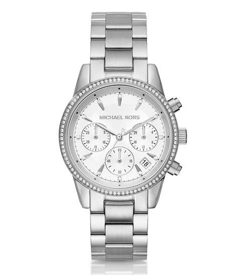 michael kors ritz chronograph date bracelet dillards