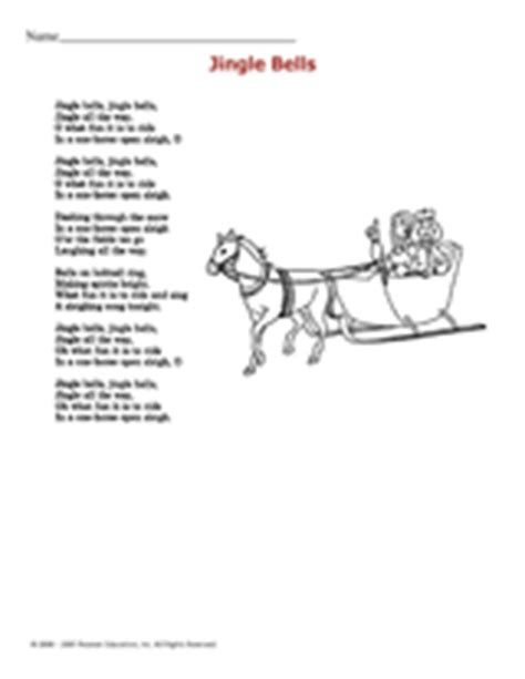 jingle bells lyrics printable version jingle bells printable christmas activity grades k 2