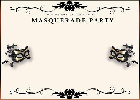 Masquerade Invitation Template by Free Printable Masquerade Invitation Templates
