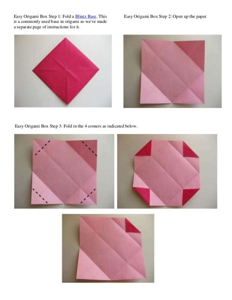 Simple Box Origami - easy origami box step 1