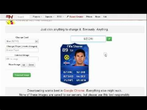make your own fifa card how to create your own fut 14 card