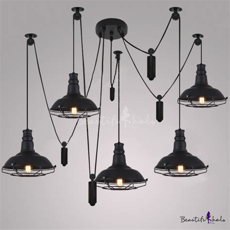 what is a swag light five light swag led multi light pendant in black
