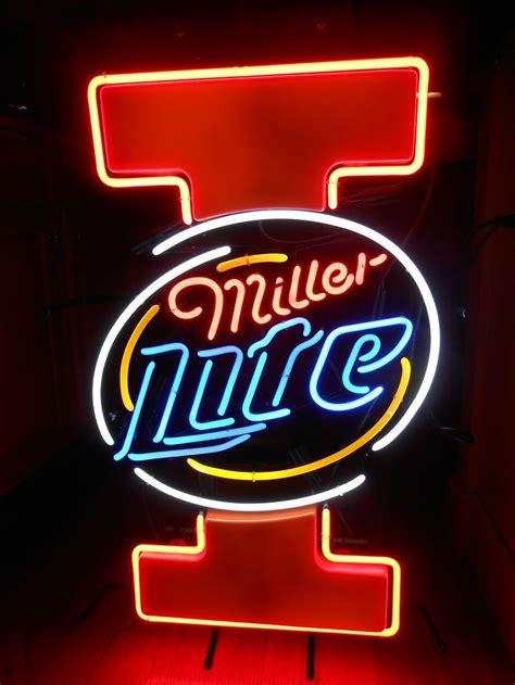 miller light neon sign miller lite university of illinois quot illini quot neon bar sign