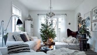 Home Interiors Christmas by White Scandinavian Home Decorated For Christmas Denmark