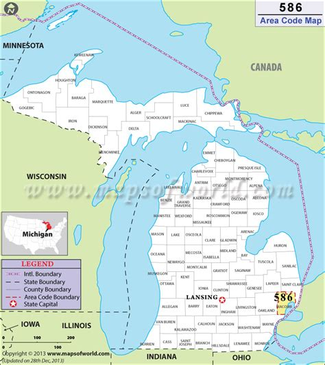 area code maps usa 586 area code map where is 586 area code in michigan