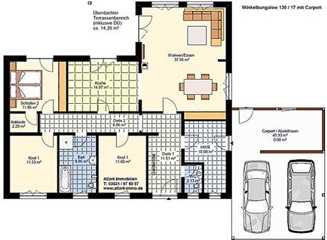 carport grundriss winkelbungalow 130 17 carport einfamilienhaus neubau