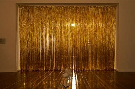 tinsel curtains curtain of gold tinsel by rebecca baumann video at link