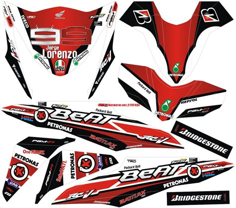 Striping Decal Scoopy Fi honda beat pop striping baru fiat world test drive