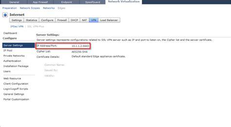 vpn port number vcloud networking and security 5 1 edge ssl vpn