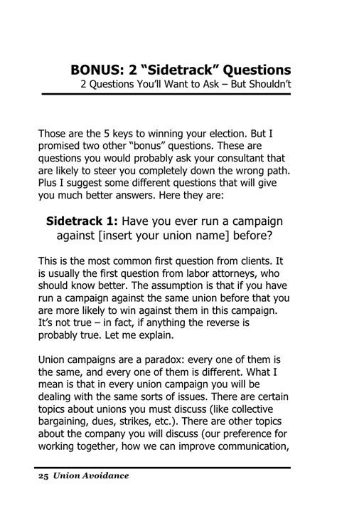 union free 5 keys to winning your union election