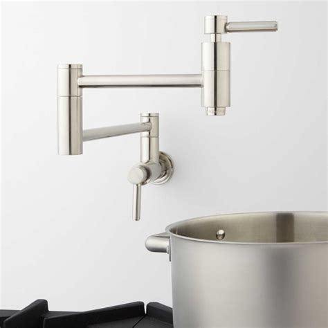 Traditional Wall Mounted Kitchen Taps by Retractable Wall Mount Pot Filler Faucet