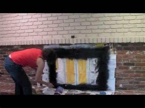 Brick Fireplace Paint Colors - how to paint an old brick fireplace diy tutorial thrift diving youtube