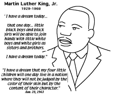 get this easy printable martin luther king jr coloring