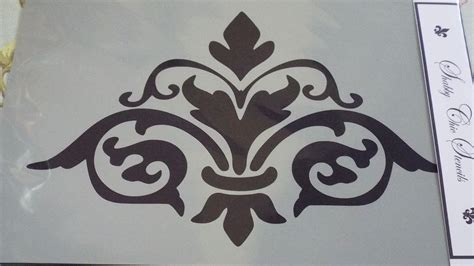 french style damask stencils for furniture shabby chic