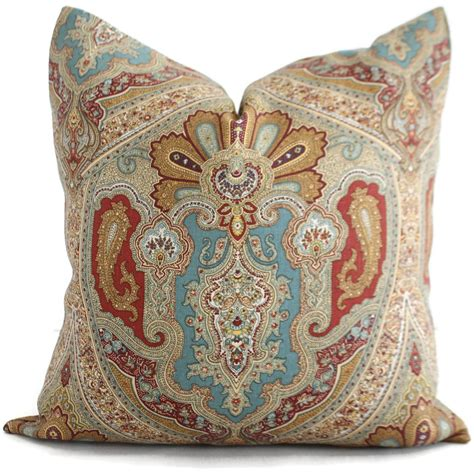 paisley throw pillows for blue paisley decorative pillow cover square or