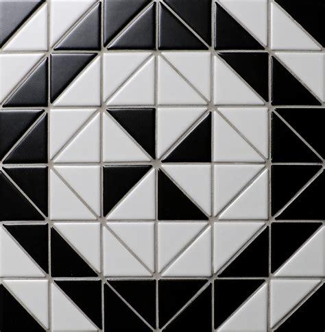 mosaic pattern triangle windmill series 2 matte black white triangle triangle