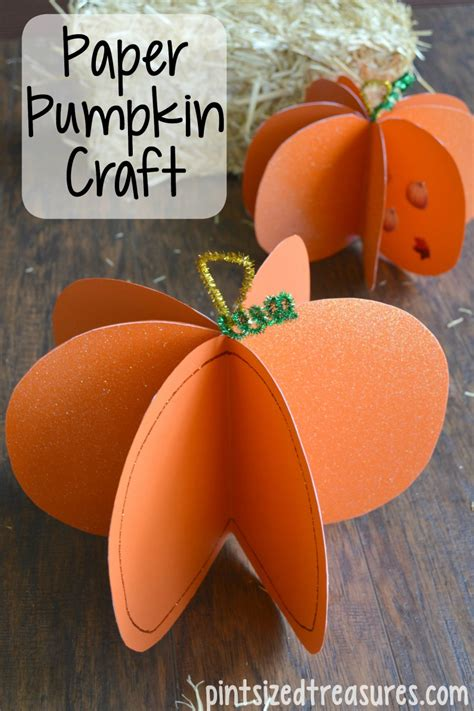 Pumpkin Paper Craft - easy paper pumpkin craft 183 pint sized treasures