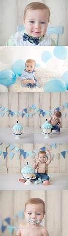 Happy first birthday l a classic baby boy cake smash at the studio