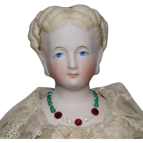 parian doll head german bisque parian doll with fancy hairstyle