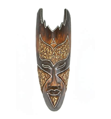 african mask deco flame decoration exotic ethnic african