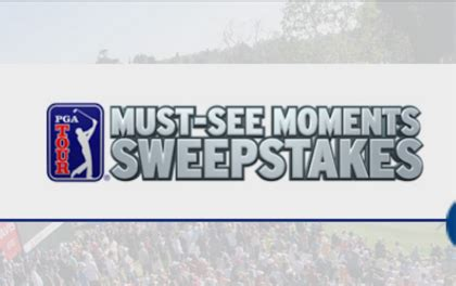 Pga Tour Sweepstakes - pga tour must see moments sweepstakes sun sweeps