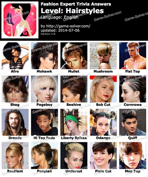 hairstyles quiz games fashion expert trivia hairstyles answers game solver
