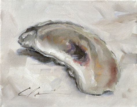 oyster shell clair hartmann daily painting oyster shell
