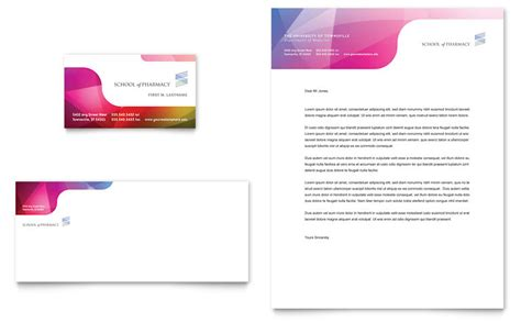 Letterhead And Business Card Templates Pharmacy School Business Card Letterhead Template Word Publisher
