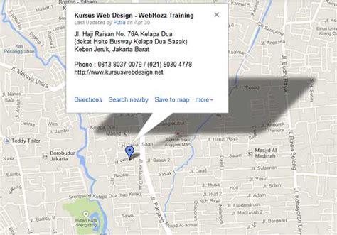 membuat link google map membuat peta google kursus php jakarta bandung surabaya