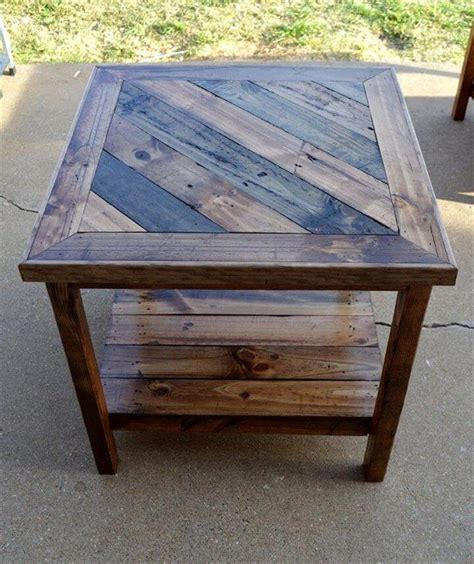 pallet end table top 14 pallet furniture projects that inspired you