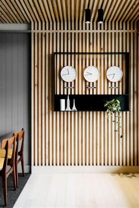 mid century modern home decoration ideas wood slat