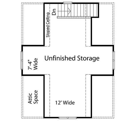 garage loft floor plans plan w2233sl two car garage with loft storage e