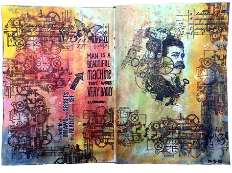 art journal layout paris art journal pages with carabelle studio sts