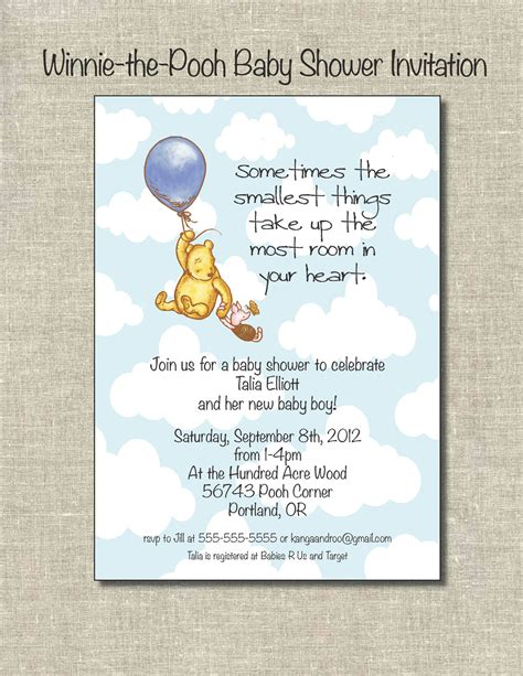 winnie the pooh baby shower ideas on winnie the pooh vinyl wall decals and invitations