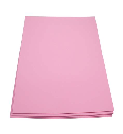 thick sheets craft foam sheets 12 x 18 inches pink 5 sheets 2 mm