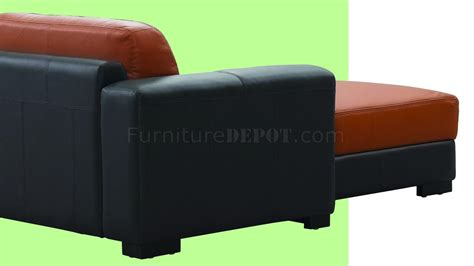 orange brown sofa dico sectional sofa in brown orange leather by beverly hills
