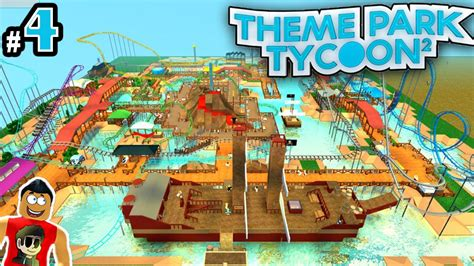 theme park tycoon theme park tycoon ep 4 lets build coolest park ever