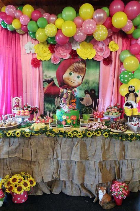 masha   bear birthday party ideas photo