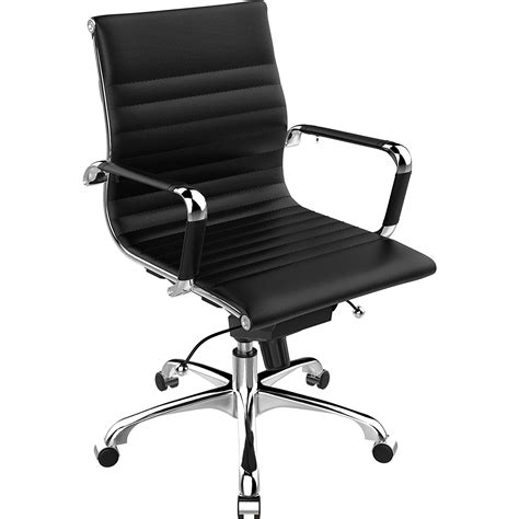 black and white desk chair new stylish pu leather office home study computer black