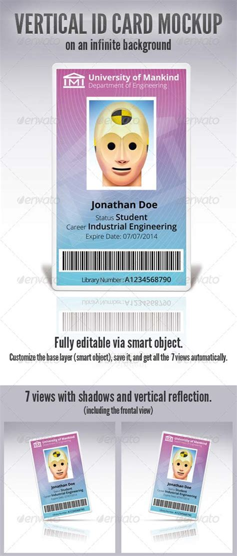 vertical id card template graphicriver vertical id card