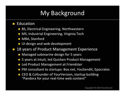 Software Engineer Stanford Mba Linkedin by My Background Education Bs Electrical Engineering