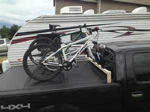 Tonneau Covers With Bike Racks Home Made Bike Rack Compatible With Undercover Tonneau
