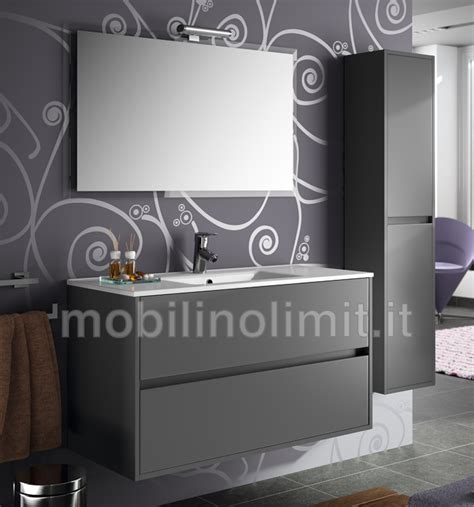 mobili bagno grigio mobile bagno moderno con lavabo l 100 grigio opaco