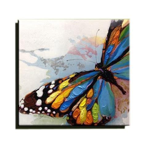 Délicieux Decoration Murale Papillon #3: tableau-papillon-multicolore-peinture-a-l-huile-sur-toile-fait-main-art-contemporain.jpg
