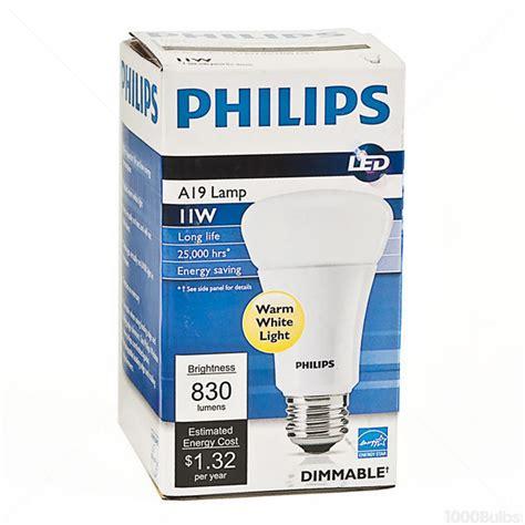Lu Philips Led 11 Watt led 11 watt a19 60w equal warm white philips