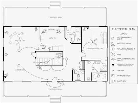 House Schematics Electrical Floor Plan Drawing Electrical Blueprints