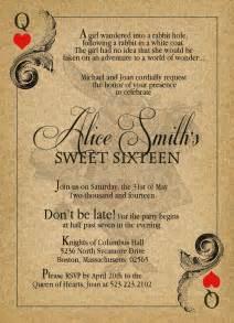 alice in wonderland vintage sweet sixteen birthday