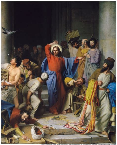 Jesus Cleanses The Temple | pondering christ reflections on monday readings for holy week