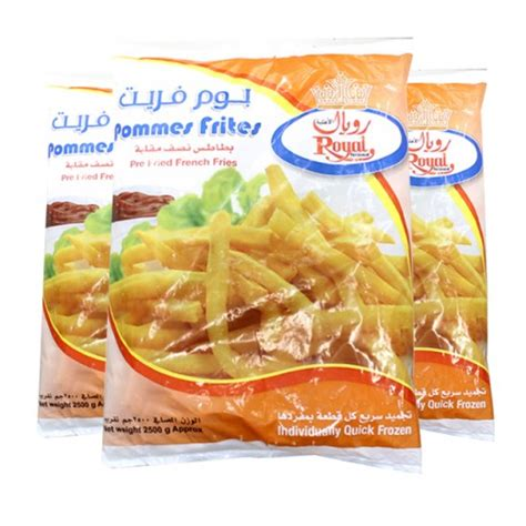 Fries Premium 2 5 Kg wholesale royal fries 2 5 kg 4 pieces taw9eel